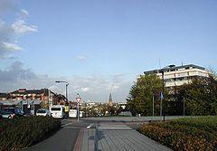 Blick von der Theresienhöhe Alt-Hürth,  über Hermülheim bis Köln