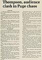 Hunter S. Thompson October 22, 1975 Duke University speech, story by Dan Hall - Chanticleer 1975 vol 1 (page 37 crop).jpg