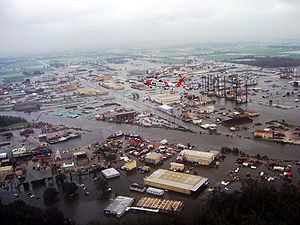 New Iberia, Louisiana - Flooding in New Iberia due to Hurricane Ike, September 2008