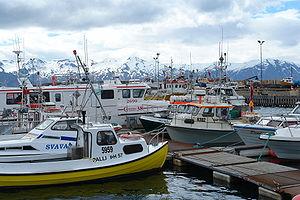 Húsavík - Image: Husavik Harbor 2006