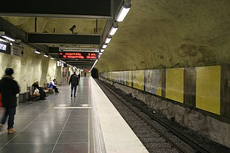 Husby metro station - Image: Husby metro station, Stockholm (2009)
