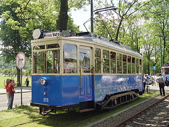 Linke-Hofmann-Busch - Preserved Linke-Hofmann tram, Kraków, Poland