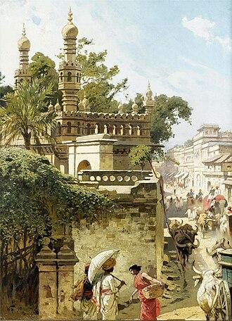 Woldemar Friedrich - Street scene in Hyderabad, Sindh, 1890