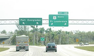 Interstate 595 (Florida) - Exit 12B on Interstate 595