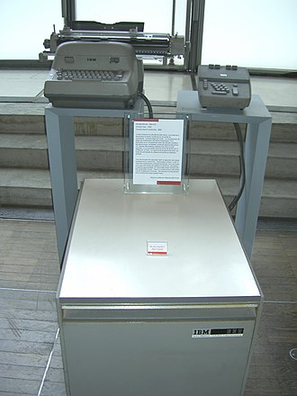 IBM Electric typewriter - IBM 632 Accounting Machine with a modified, wide-carriage IBM Electric typewriter used as a printer.
