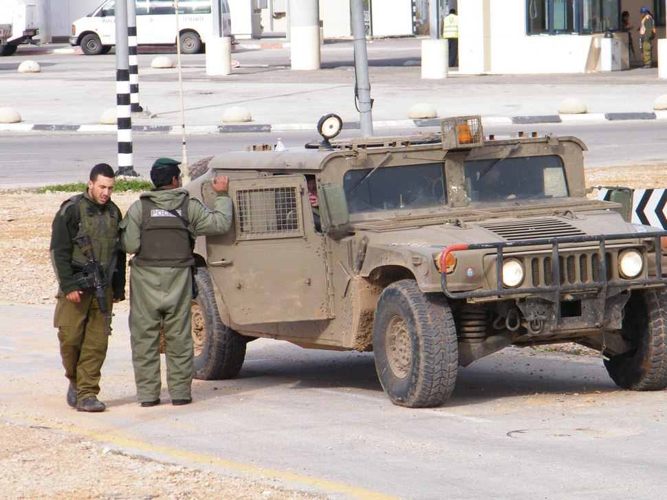 IDF soldier at Qalqilya checkpoint