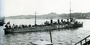 1st Special Squadron (Japanese Navy) - Image: IJN Ushio at Vladivostok Taisho 9