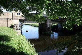 Bracknagh - R419 crossing the Figile River in Bracknagh