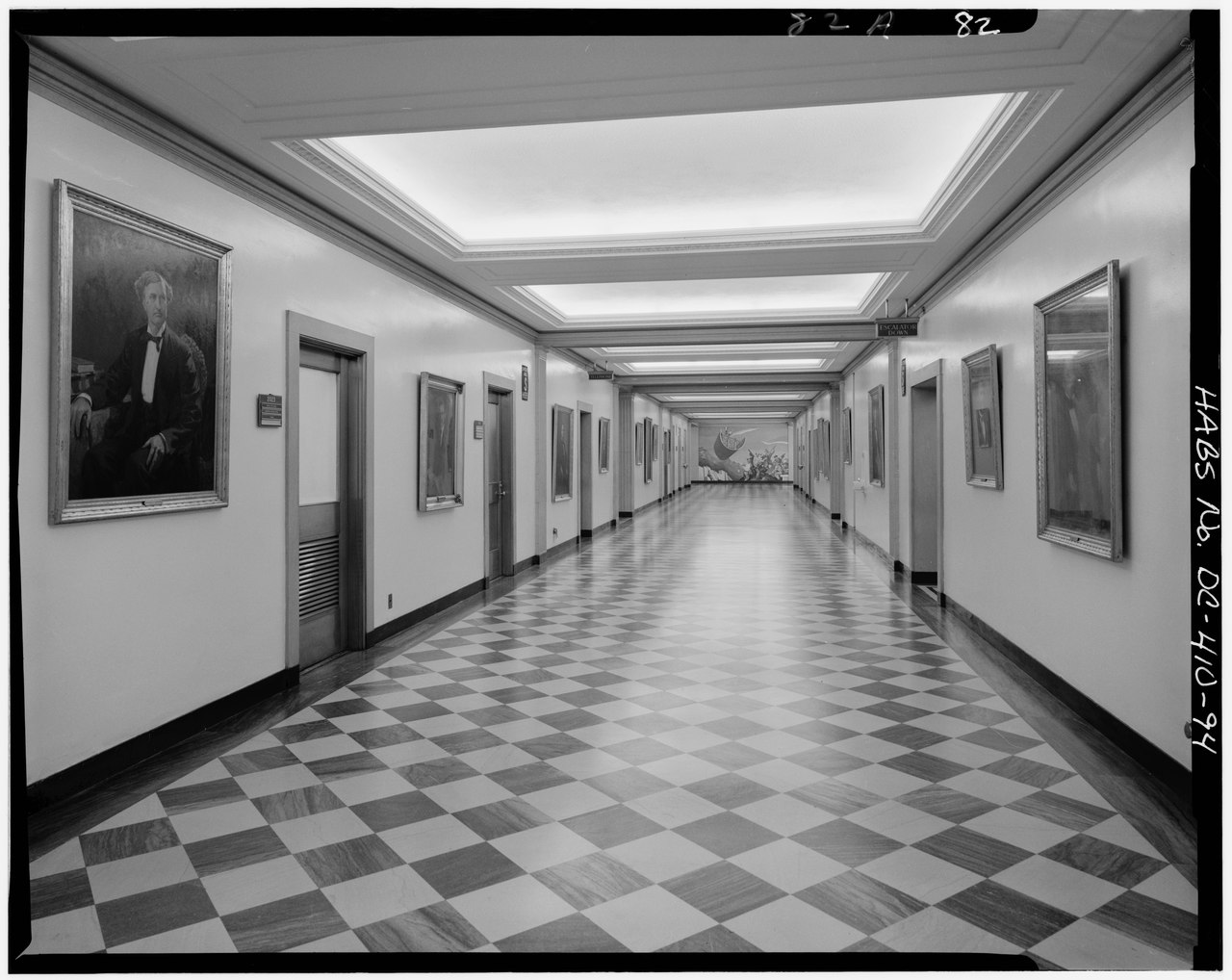 File Interior Second Floor Main Corridor Southern Section U S Department Of The Interior