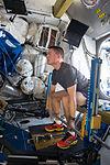 ISS-44 Kjell Lindgren exercises using the Advanced Resistive Exercise Device.jpg