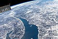 ISS-59 St. Lawrence River and the Manicouagan Crater, Canada.jpg