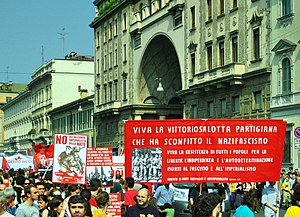 Liberation Day (Italy) - Anti-fascist demonstration for 25 April in Milan (2007)