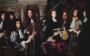 Ferdinando de' Medici, Grand Prince of Tuscany - Anton Domenico Gabbiani, Prince Ferdinand and his musicians, 1685-90, Florence, Palatine Gallery of Palazzo Pitti