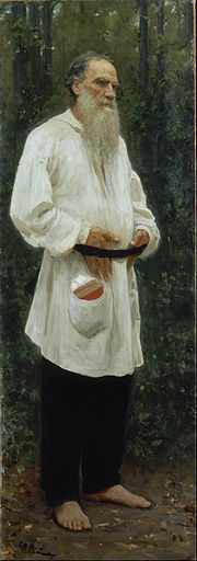 Ilya Repin - Leo Tolstoy Barefoot - Google Art Project