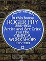 In this house ROGER FRY 1866-1934 Artist and Art Critic ran the OMEGA WORKSHOPS 1913-1919.jpg