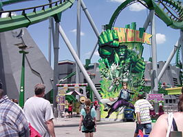 Ingang van The Incredible Hulk Coaster