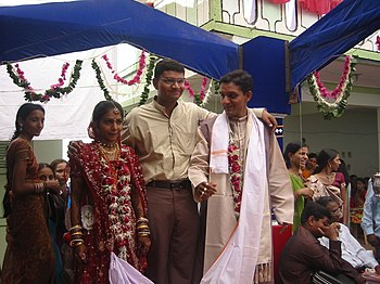 "Hindu wedding (""Var Mala"") with trad..."
