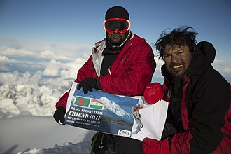 Satyarup Siddhanta - Satyarup Siddhanta with Musa Ibrahim in an Indo Bangladesh climb to improve the ties between the countries.