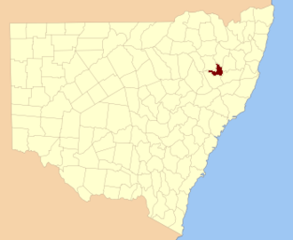 Inglis County - Location in New South Wales