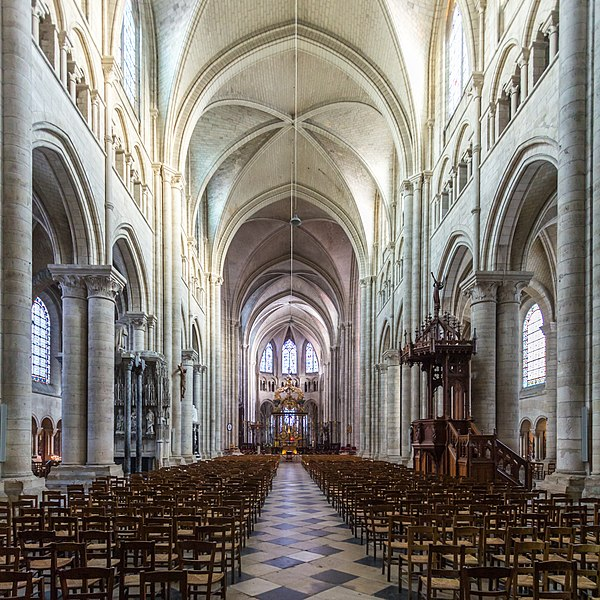 Nave Of Sens Cathedral Begun 1140