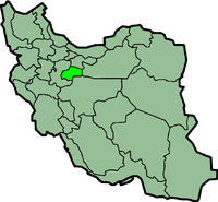 Map of Iran with {{{province_name}}} highlighted.