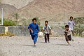 Iranian Baluchi children playing beach soccer. South kerman 04.jpg