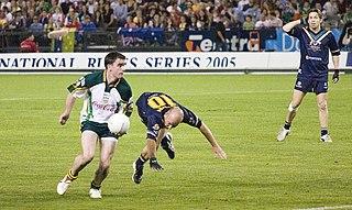 International rules football Hybrid team sport between Australian rules and Gaelic football