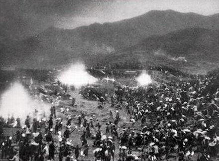 People in the countryside working at night to produce steel during the Great Leap Forward Iron smelting in 1958 China, from- Backyardfurnace5 (cropped).jpg