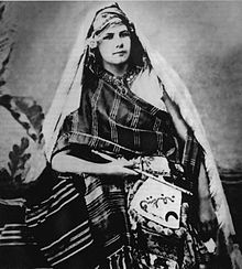 Eberhardt as a young adult wearing traditional Berber robes