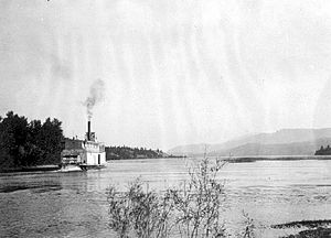 Isabella McCormack - Image: Isabella Mc Cormack (sternwheeler) entering Windermere Lake, BC ca 1912 BCA A 01662