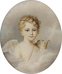 Miniature of Izabela Maria Lubomirska as Cupid.