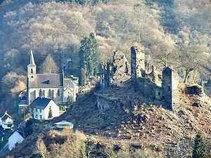 County of Isenburg - Ruins of the Castle at Isenburg (Lower Isenburg)