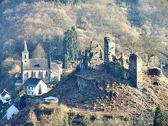County of Isenburg - Ruins of the Castle at Isenburg (Lower Isenburg)