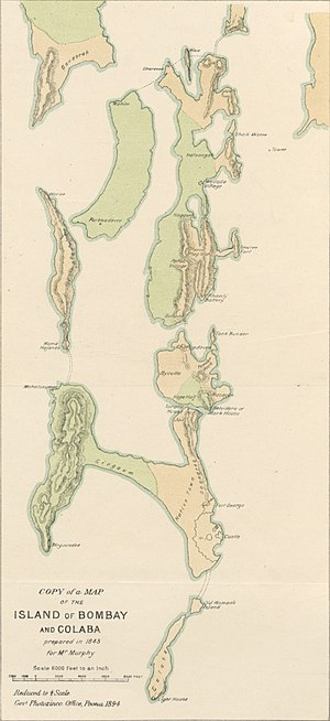 Seven Islands of Bombay - Island of Bombay and Colaba