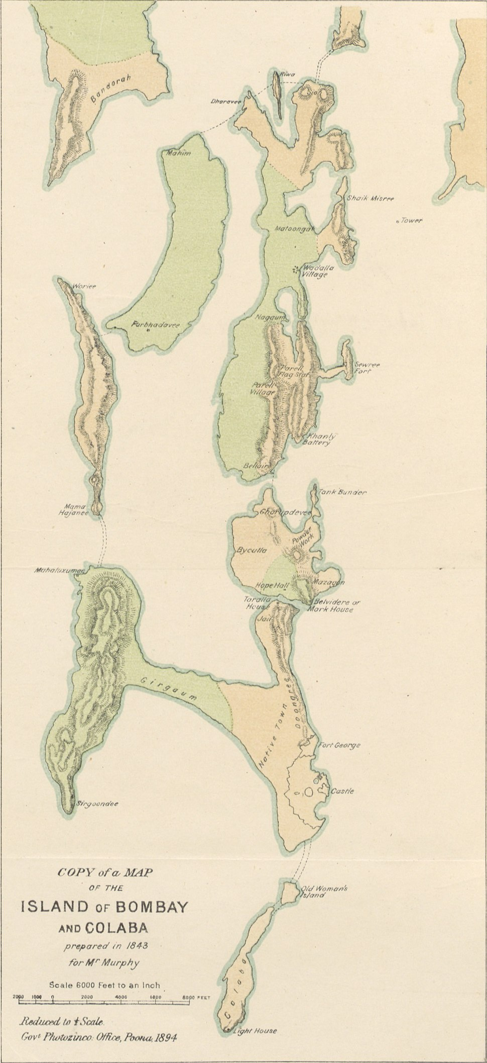 Islands of Bombay and Colaba