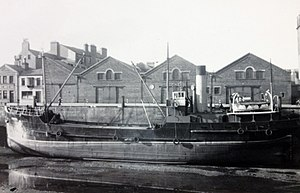 SS Conister - Image: Isle of Man Steam Packet Company coaster Conister, berthed at the Office Berth, Douglas, Isle of Man