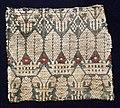 Italia, tessuto per arredo in tela di lino lanciata, con lana e cotone, 1410 ca. 02.jpg