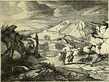 Litografia della porta di Massa del 1877 (Italy from the Alps to Mount Etna)