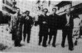 Ivo Ribar and Hasan Brkić with their colleagues from Belgrade University in Sarajevo.png