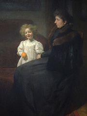 Portret pani Oderfeldowej z córką