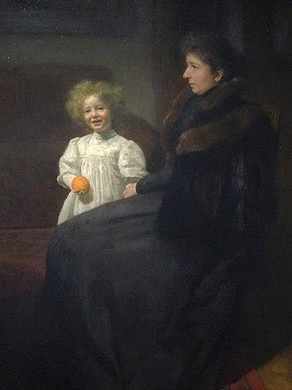 Józef Pankiewicz - Mrs. Oderfeld and her Daughter.