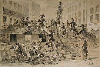 Joseph Heicke - Street barricade 26 May 1848, Vienna