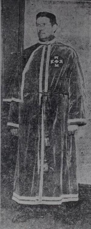 Ku Klux Klan in Canada - J.H. Hawkins, one of the original founders of the Ku Klux Klan of Canada