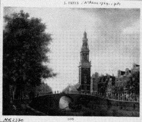 Gezicht op het Singel met de Jan Roodenpoortstoren te Amsterdam