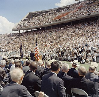 We choose to go to the Moon - The crowd at Rice University watching Kennedy's speech