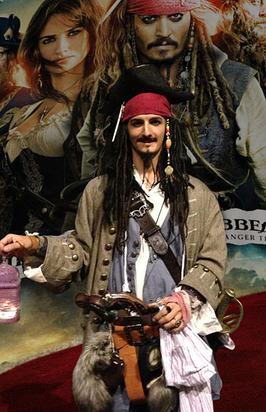 Personnage Jack Sparrow (cosplayer)