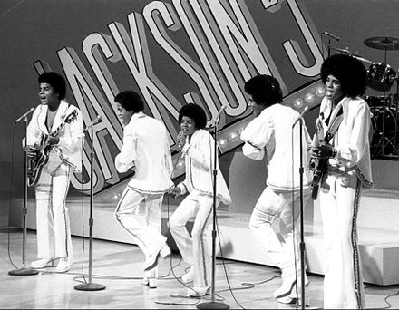 Jackson (center) as a member of the Jackson 5 in 1972 Jackson 5 tv special 1972.JPG