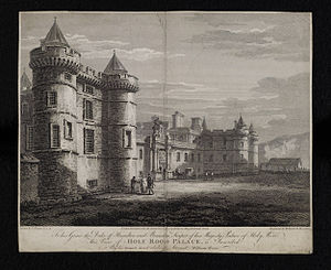 Thomas Hearne (artist) - Engraving of Holy Rood Palace, 1800