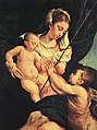 Jacopo da Ponte - Madonna and Child with Saint John the Baptist - WGA01446.jpg
