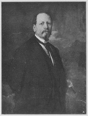 Ludwig von Hagn - Ludwig von Hagn. Portrait by Franz von Lenbach (1863)